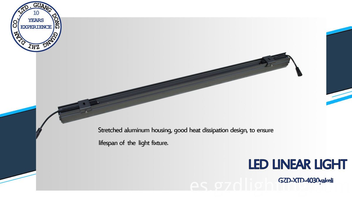 led bar light back side