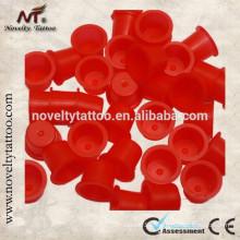 N201015B-R New Red Plastic Tattoo Enk Tasses / Encre Caps