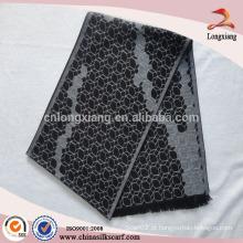 Fabricação de lenço de seda geométrica para homens