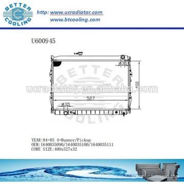 RADIADOR 84-85 1640035090/1640035100/1640035111 para Toyota 4-Runner / TUBO DE Fabricante y venta directa!