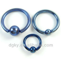 wholesale titanium plated captive bead rings