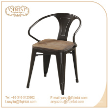 стулья для столовой armest с деревянным сиденьем / металлическое кресло Marais / стул Marai Cafe с порошковым покрытием