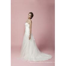 Cuello del amor de la sirena con el vestido del cordón del vestido de boda del grano AS28302