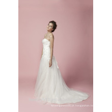 Mermaid Sweetheart Neck With Bead Vestido de casamento laço GOWN AS28302