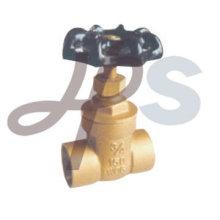 válvula de porta de bronze do soquete