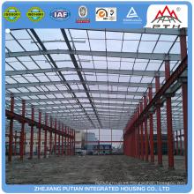 Edificio prefabricado prefabricado de la estructura de acero ligero creíble y fábrica