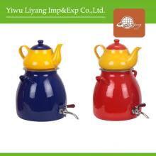 Colorful Ceramic Teapot Enamel Kettle Set with Faucet (BY-2303)
