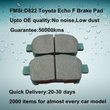OE calidad Echo coche de alta calidad de cerámica almohadilla de freno D822