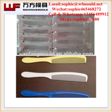 Multi-cavities plastic injection comb mold made in China/OEM Custom plastic injection mould for hair comb