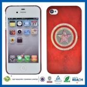 C&T Luminous Captain America Plastic Case for iPhone 4