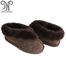 women comfortable house sheepskin booties fuzzy slippers