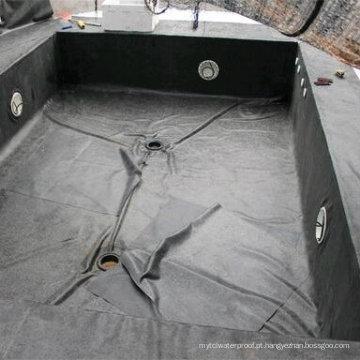 O forro preto da piscina / forro de lagoa / EPDM Waterproof a membrana