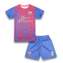 Оптовые равнины полосатый пользовательских футбольных Jersey Kids Set