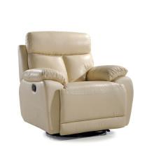 Sofá de salón con sofá moderno de cuero genuino (766)