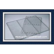 Cremalheira de fio soldada revestimento de aço inoxidável / PE para o armazenamento do alimento do congelador