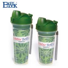 grado alimenticio pp barato botellas de agua reutilizables