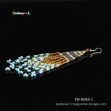 Latest Fashion graine libre la main chaude perle Eearring Designs