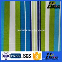 100% algodão tecido de lona listrado impressa para sapatos saco cortina de sofá