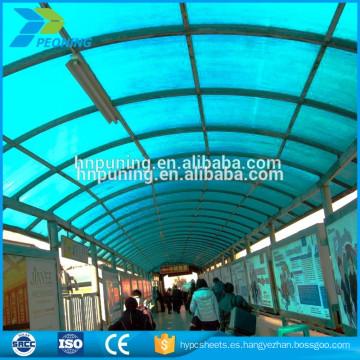 Hoja de techo de policarbono aislante térmico hoja de pc para el cobertizo