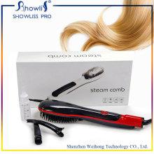 Portable Steamed Sprary Pantalla LCD Cepillo para enderezadora de cabello