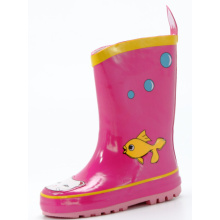 Cat&Fish Printing Children's Rubber Rain Boots