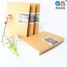 Blank Pages Recycle Brown Kraft Paper Notebook (XLF3280-K08)