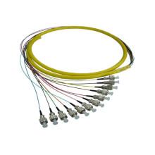 Fc Faser Pigtail Patchkabel, Faser Patchkabel / Kabel Bündel 12 Kern 24 Kern