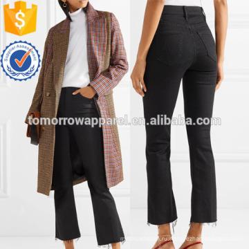 Уцененный укороченные с высокой посадкой Расклешенные джинсы оптом производство модной женской одежды (TA3062P)