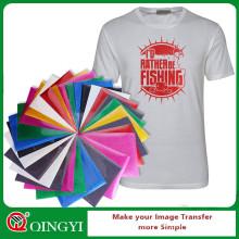 Feuille de vinyle glitter QingYi pour t-shirt