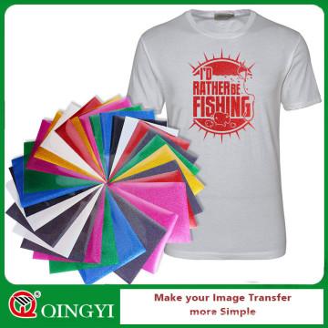 QingYi glitter vinyl sheet for t-shirt