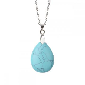 28x35MM Turquoise Waterdrop Pendant Necklace