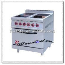 K250 com forno de forno ou gabinete elétrico 4 fogão de cerâmica