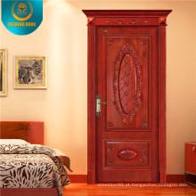 Porta de madeira interior clássica