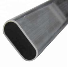 Tubo oval de aluminio extruido personalizado anodizado tubo