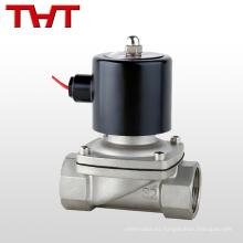 válvula solenoide de acción directa de 240 v de acero inoxidable