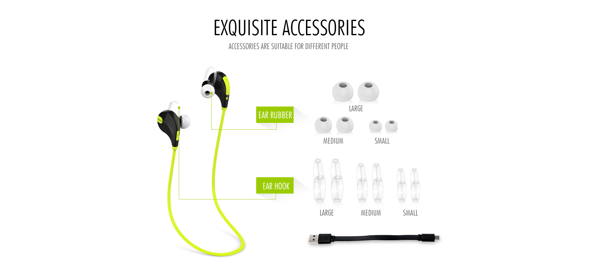 QCY QY7 Bluetooth Headphones