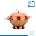 Venta caliente de acero inoxidable metal frutas y hortalizas cesta de frutas