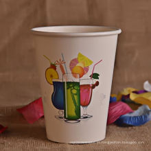 Descartáveis de alta qualidade de copos de papel 12oz atacado