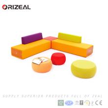 Orizeal meubles de bureau tissu royal meubles canapé ensemble grand canapé modulaire sectionnel (OZ-OSF028)