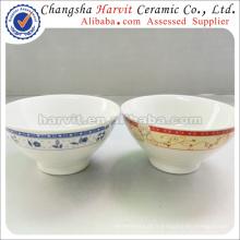Bols de soirée chinoise en porcelaine / Bol de soupe japonais / Bols à base de ceramique bon marché