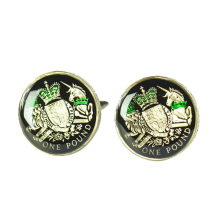 Customized for Men Cufflinks Personalised Vintage Prints Cufflinks For Men supply to Poland Exporter