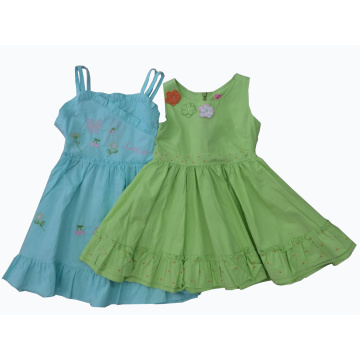 Flower Kids Girl Dress in Children′s Apparel (SQD-123-124)