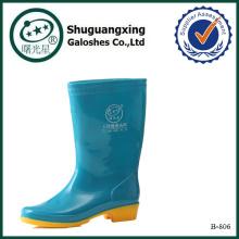 Дешевые ботинки дешевые плоские Обнаженная девушка Резина дождь сапоги B-803