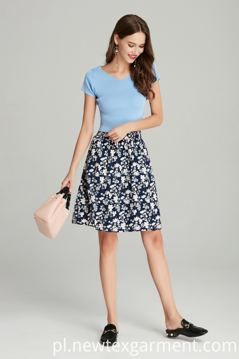 ladies printed casual skirt