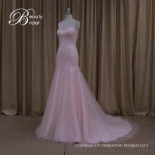 Promotion Tank Top bretelles robe de mariée organza volants jupe