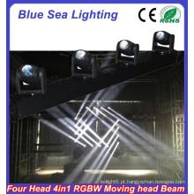 2015 China hotsale RGBW 4in1 ângulo de feixe estreito 4x10w levou holofotes
