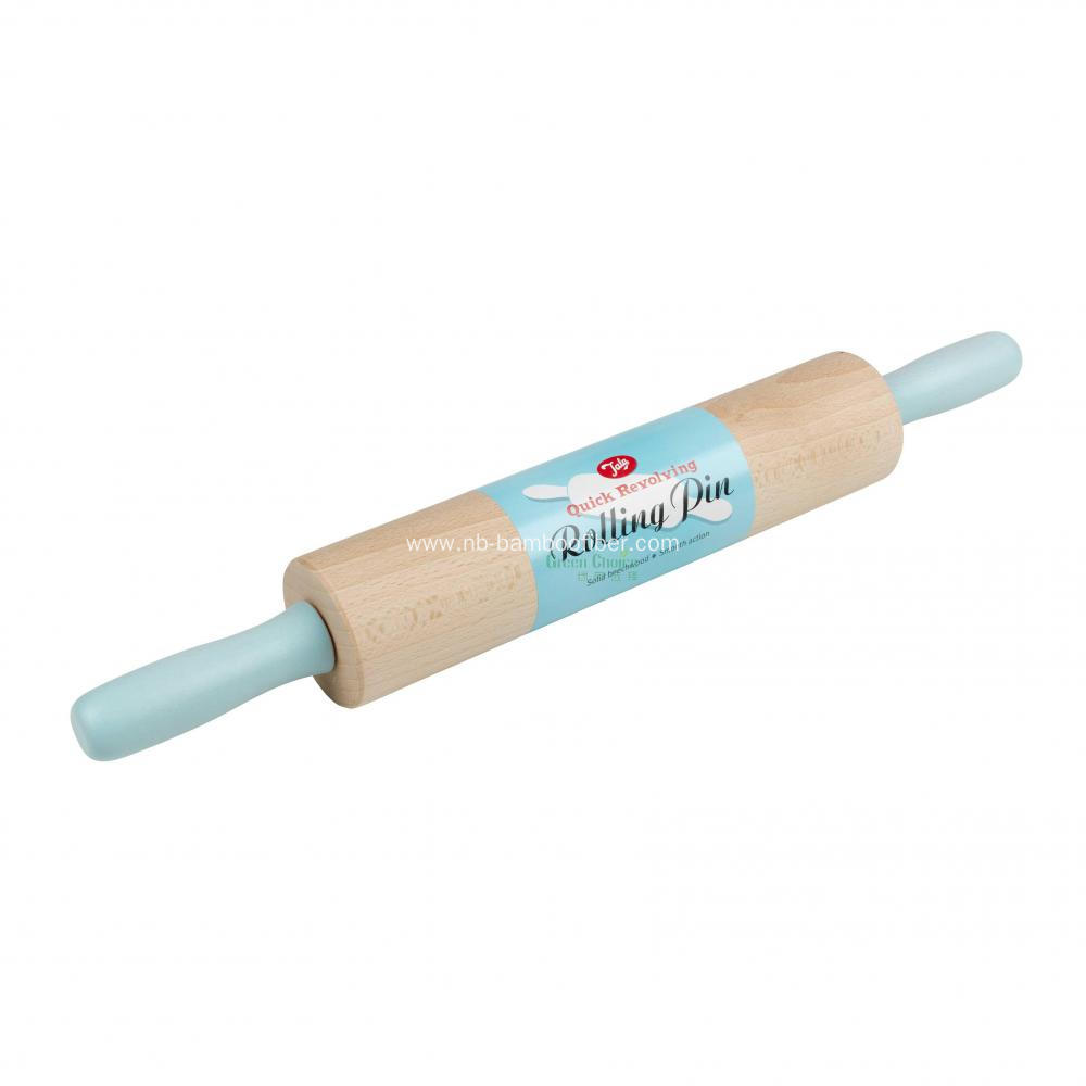 Quick revolving rolling pin wooden