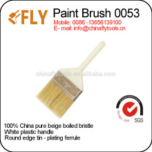 economical pure bristle white plastic handle paint brush