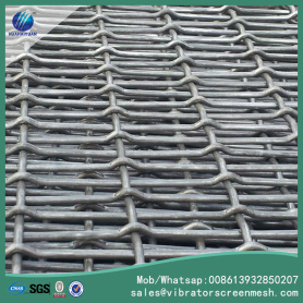 Flat Top Wire Mesh Dengan Slotted Openings