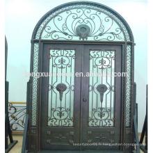Portes extérieures porte de sécurité porte grille porte en fer forgé